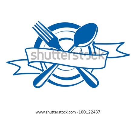 Restaurant menu symbol, such logo. Vector version also available in gallery - stock photo