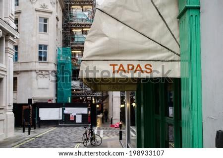 restaurant serving tapas - stock photo