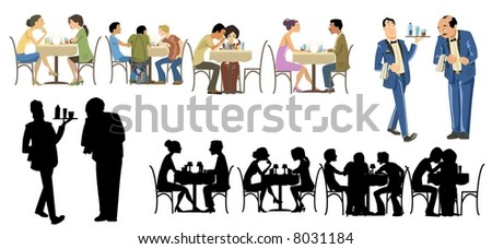 Restaurants Goers Collection - stock photo