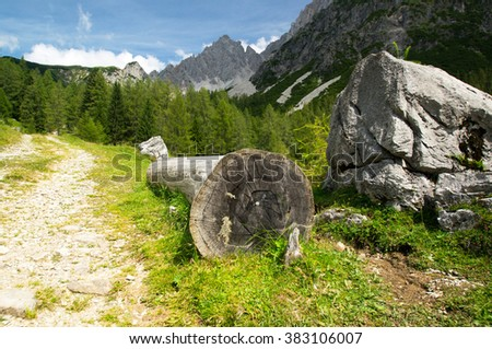 resting place hiking - stock photo
