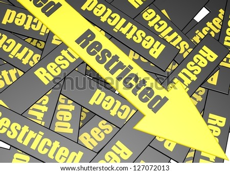 Restricted banner - stock photo