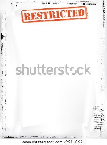 Restricted Document Template - stock photo