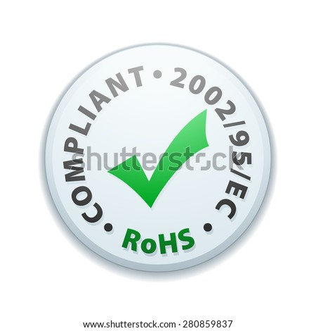 Restriction of Hazardous Substances Compliant - stock photo