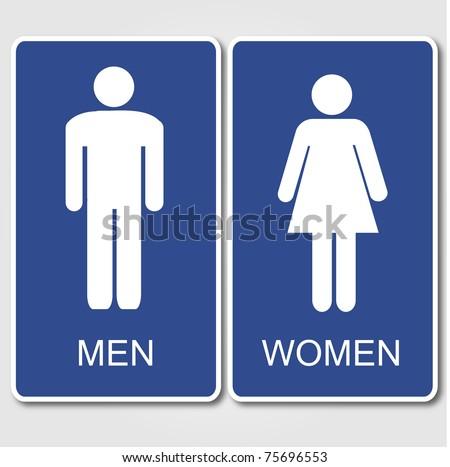 Restroom Signs Illustration - stock photo