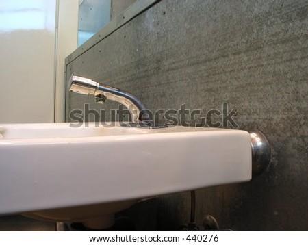 Restroom Sink - stock photo