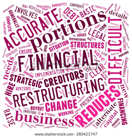 Restructuring word cloud - stock photo