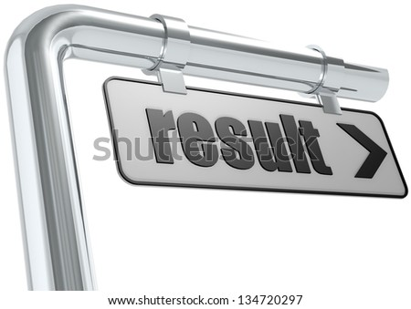 Result street sign - stock photo