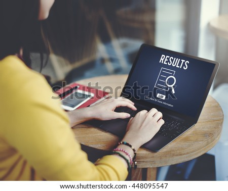 Results Analysis Discovery Investigation Concept - stock photo