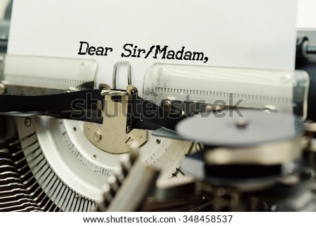 RESUME - Paper Sheets in Old Vintage Typewriter . Business concept on Toned, Grain Effect, Shallow Depth Of Field and Blurred Background - stock photo