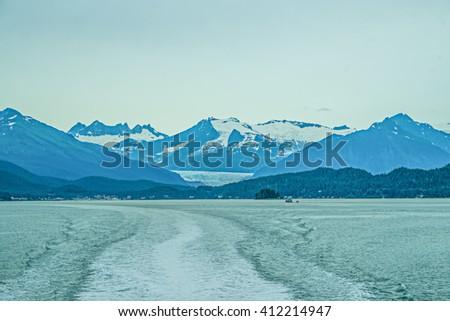 Resurrection Bay leading to Juneau, Alaska - stock photo