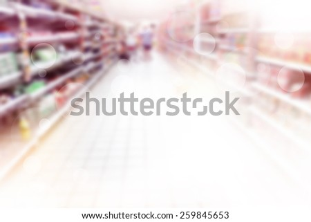 Retail Store Blurred Background  - stock photo