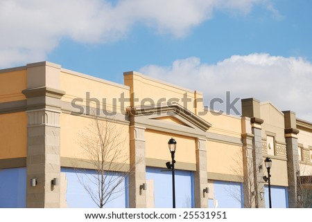 retail store building exterior - stock photo