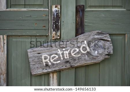 Retired. - stock photo