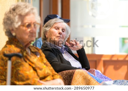Retired elderly women and free time - stock photo