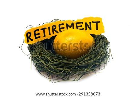 Retirement, Eggs, Animal Egg. - stock photo
