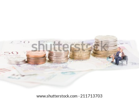 Retirement fund  - stock photo