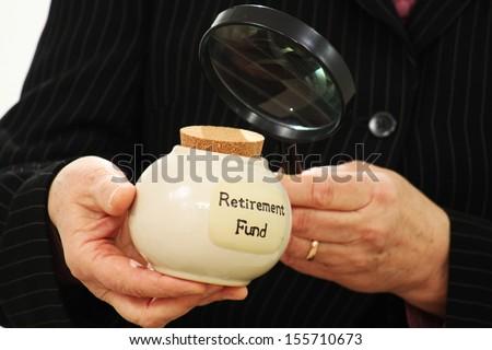 Retirement fund jar - stock photo