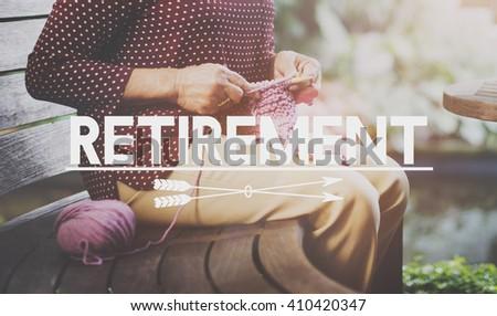 Retirement Insurance Lifestyle Pension Concept - stock photo