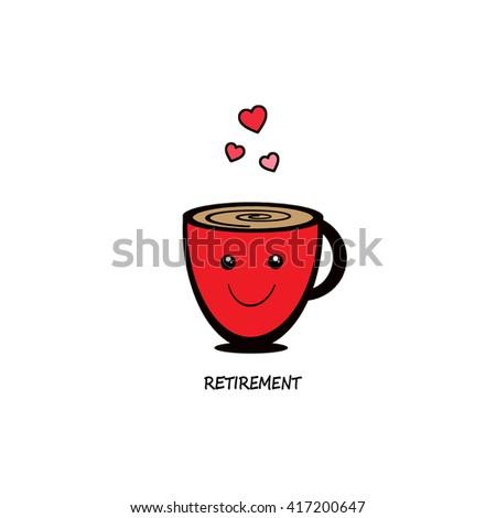 Retirement Mug - stock photo