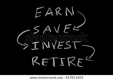 retirement saving concept - stock photo