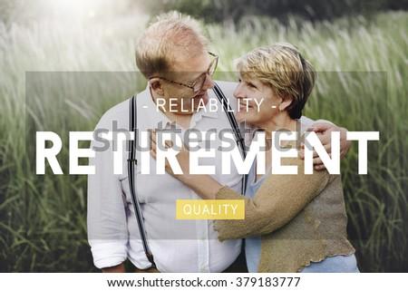 Retirement savings Planning Pension Insurance Concept - stock photo
