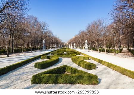 Retiro Park in Madrid, Spain - stock photo