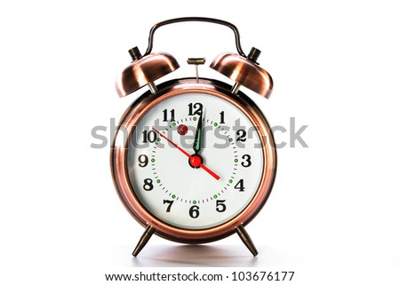 Retro Alarm clock - stock photo