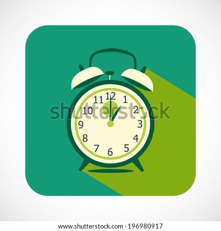 Retro Alarm Clock Button - stock photo