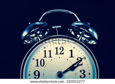 retro alarm clock ,concept  insomnia  - stock photo