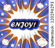 Retro background Design Template boom with word ENJOY Comic book background - stock photo