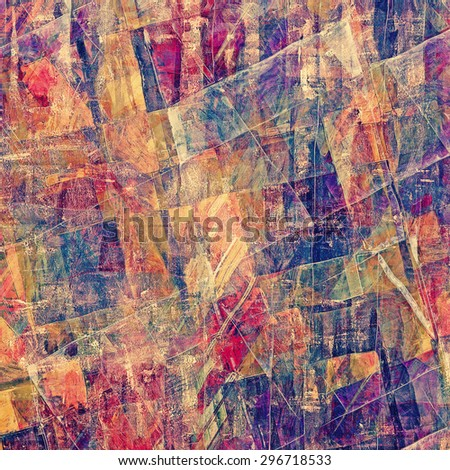 Retro background with grunge texture. With different color patterns: brown; blue; purple (violet); pink - stock photo