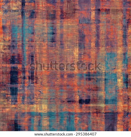 Retro background with grunge texture. With different color patterns: brown; red (orange); blue; purple (violet) - stock photo