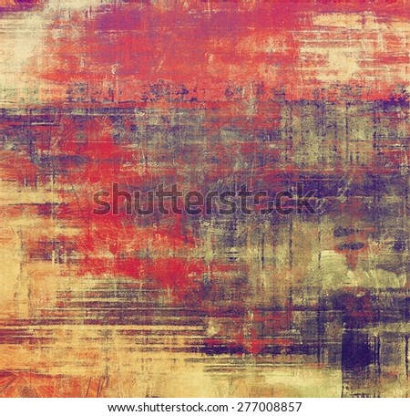Retro background with grunge texture. With different color patterns: gray; purple (violet); red (orange); yellow (beige) - stock photo