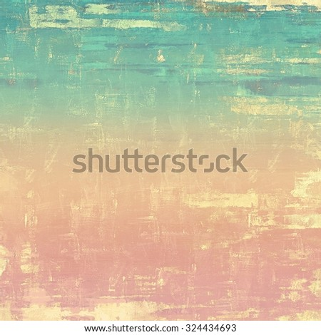 Retro background with grunge texture. With different color patterns: yellow (beige); blue; pink; cyan - stock photo