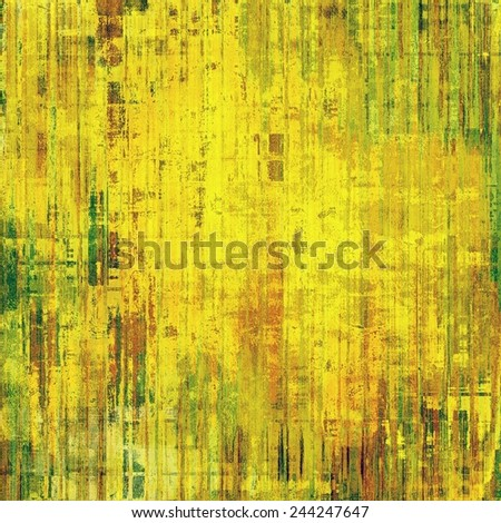 Retro background with grunge texture. With different color patterns: yellow (beige); brown; green - stock photo