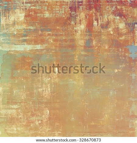 Retro background with old grunge texture. With different color patterns: yellow (beige); brown; red (orange); cyan - stock photo