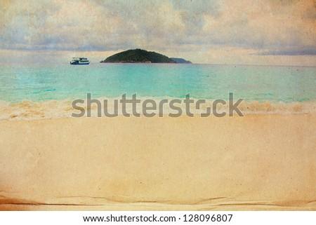 Retro beach grunge style for background - stock photo