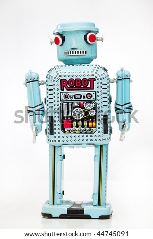 retro boy robot - stock photo