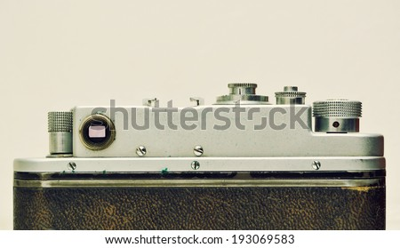 Retro camera - stock photo
