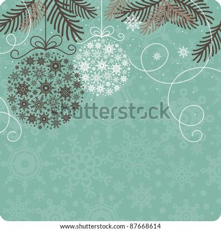 Retro Christmas background - stock photo