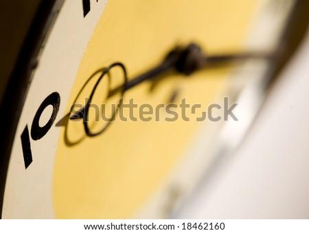 retro clock close-up - stock photo