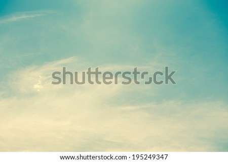 Retro cloud and sky - stock photo