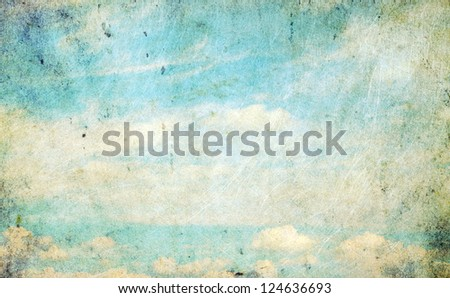 Retro clouds - stock photo