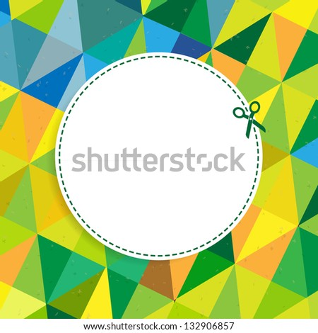 Retro Color Background With Coupon - stock photo