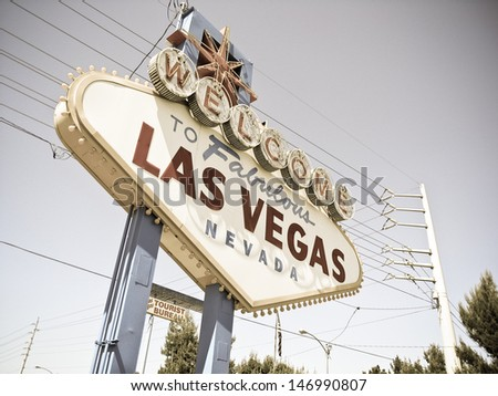 retro color  image las Vagas  - stock photo