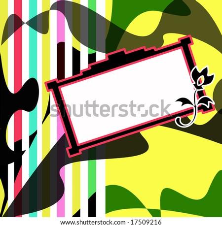 Retro colored frame - stock photo