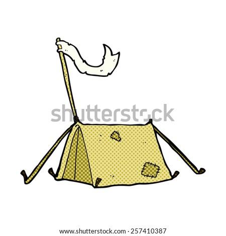 retro comic book style cartoon traditional tent - stock photo