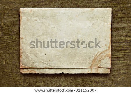 Retro composition with letters and paper - stock photo