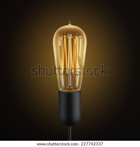 retro edison light bulb - stock photo