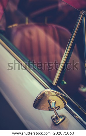 Retro Filtered Detail Of A Vintage Convertable Sports Car - stock photo